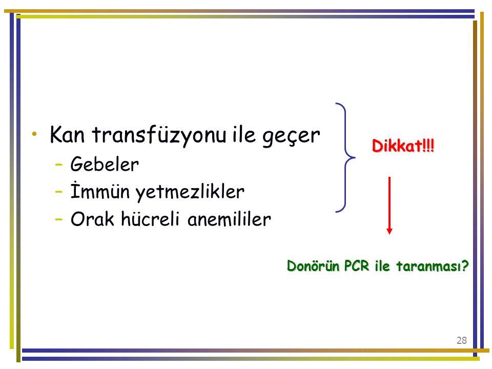 Donörün PCR ile taranması
