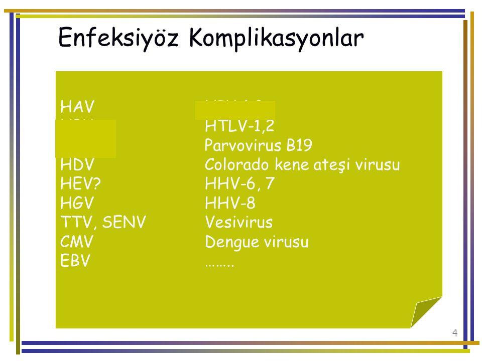 Enfeksiyöz Komplikasyonlar