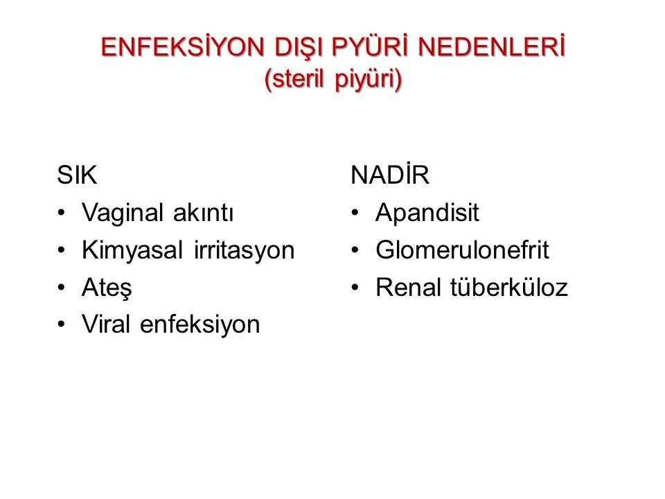 ENFEKSİYON DIŞI PYÜRİ NEDENLERİ (steril piyüri)