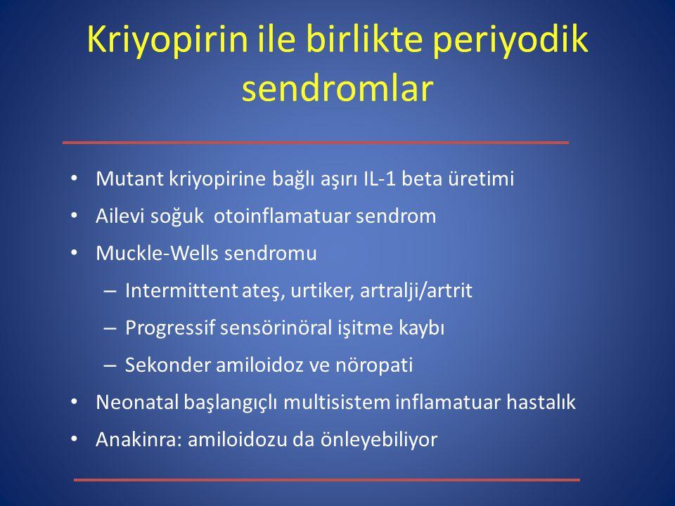 Kriyopirin ile birlikte periyodik sendromlar
