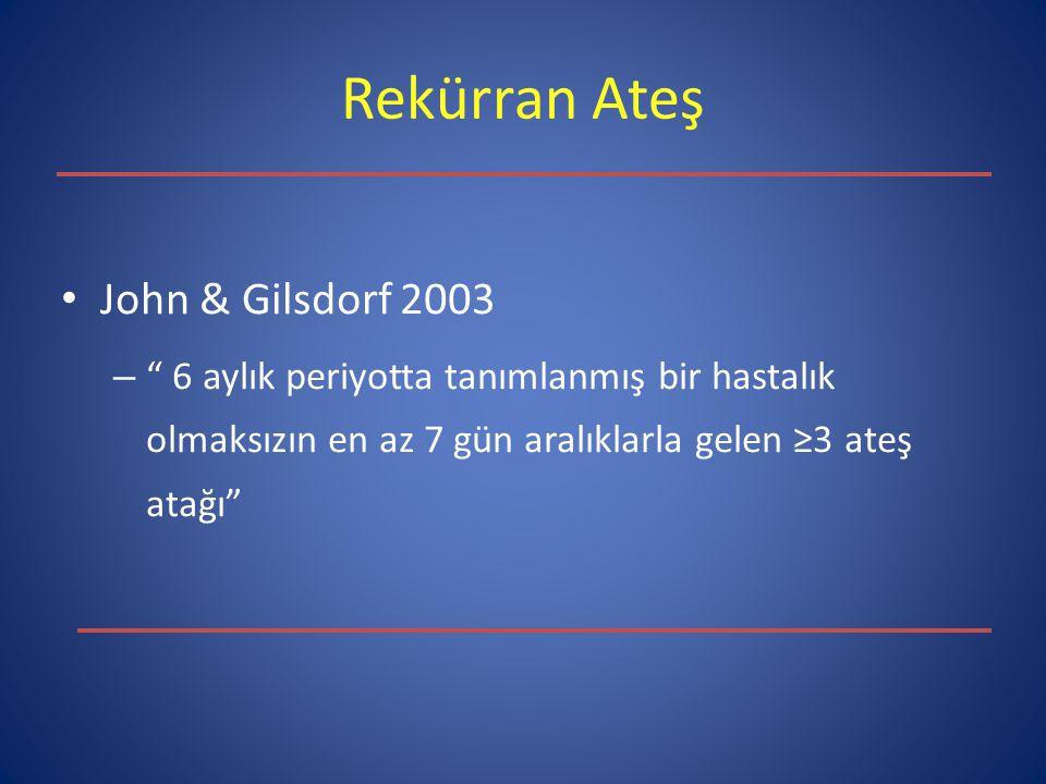 Rekürran Ateş John & Gilsdorf 2003