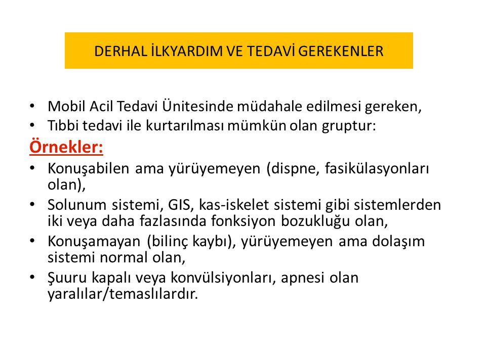 DERHAL İLKYARDIM VE TEDAVİ GEREKENLER