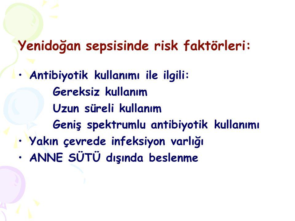 Yenidoğan sepsisinde risk faktörleri: