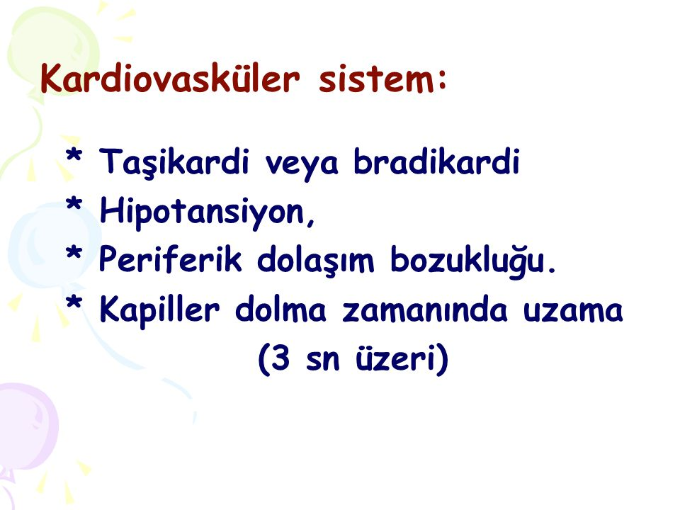 Kardiovasküler sistem: