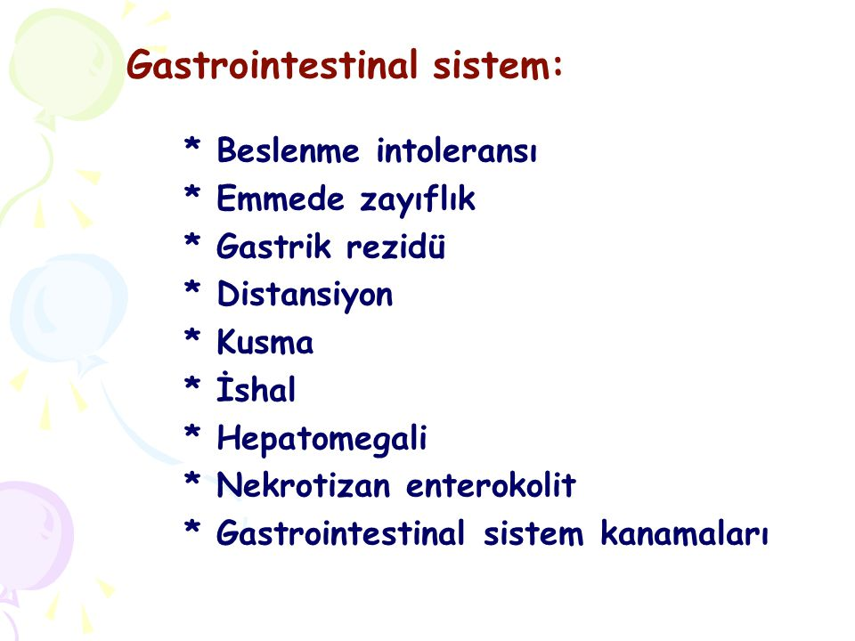 Gastrointestinal sistem: