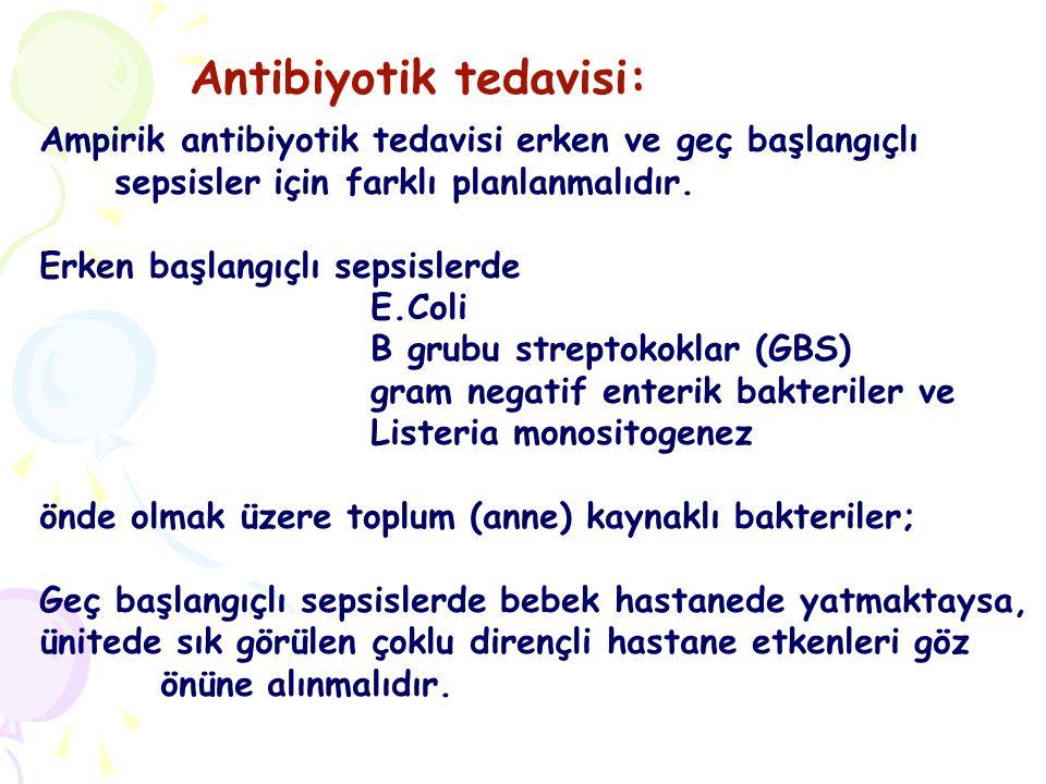 Ampirik antibiyotik tedavisi erken ve geç başlangıçlı