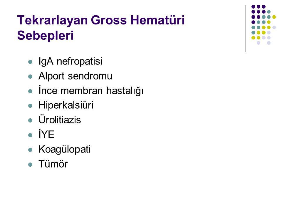 Tekrarlayan Gross Hematüri Sebepleri