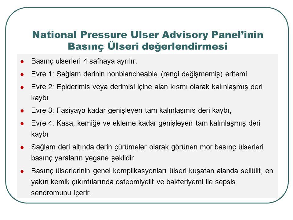 National Pressure Ulser Advisory Panel'inin Basınç Ülseri değerlendirmesi