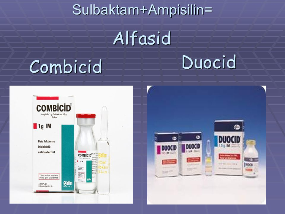 Sulbaktam+Ampisilin=