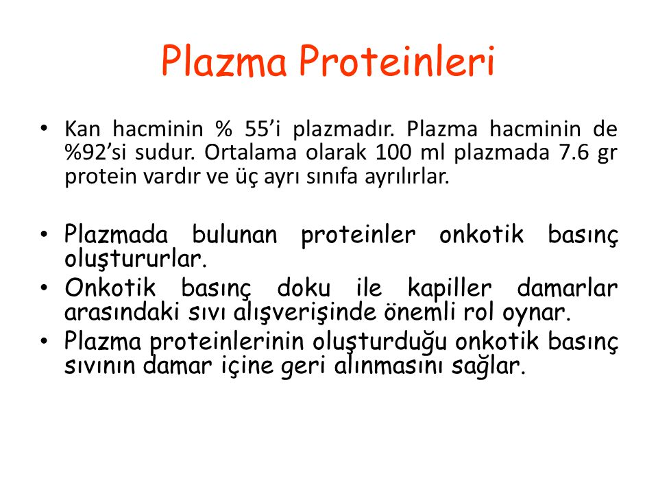Plazma Proteinleri