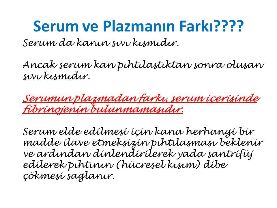 Serum ve Plazmanın Farkı