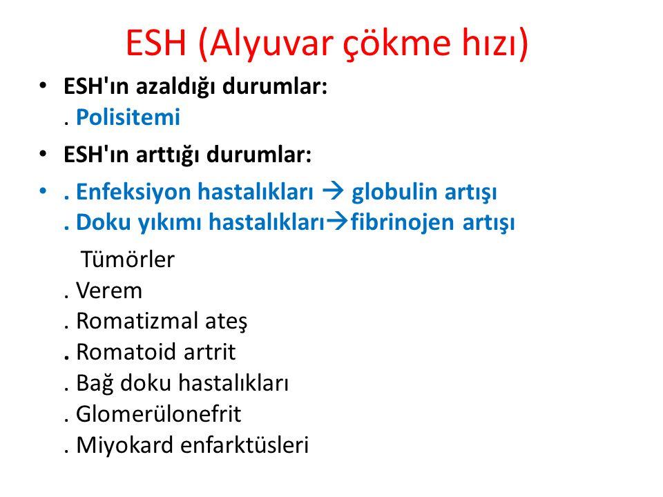 ESH (Alyuvar çökme hızı)