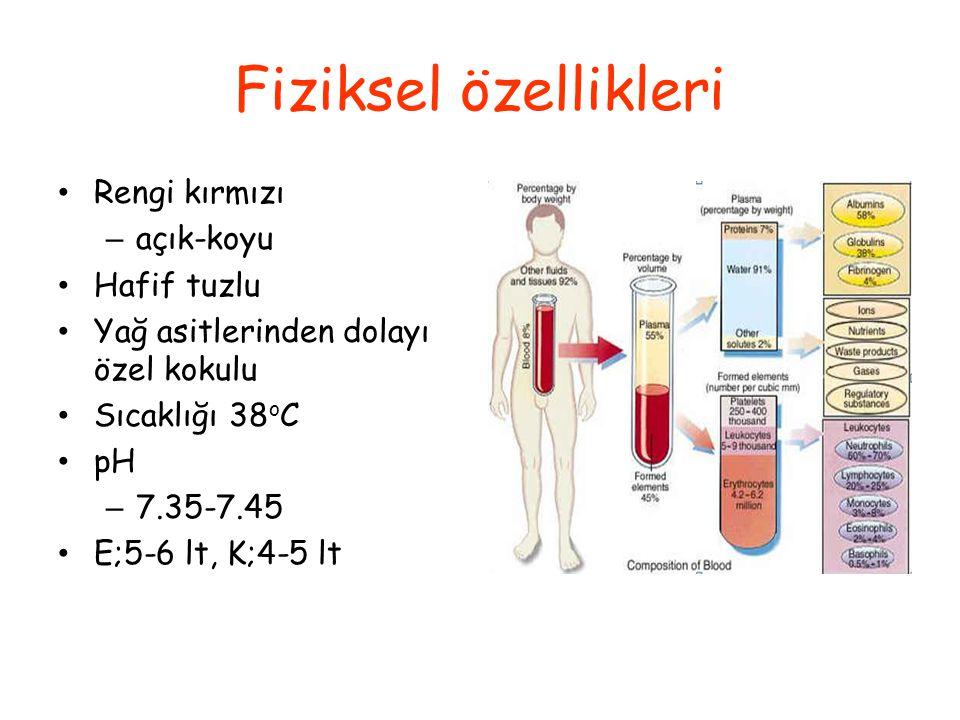 Fiziksel özellikleri Rengi kırmızı açık-koyu Hafif tuzlu