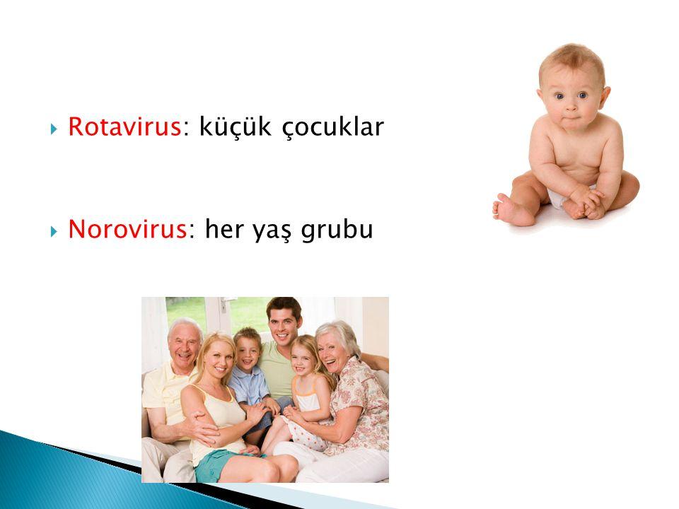 Rotavirus: küçük çocuklar