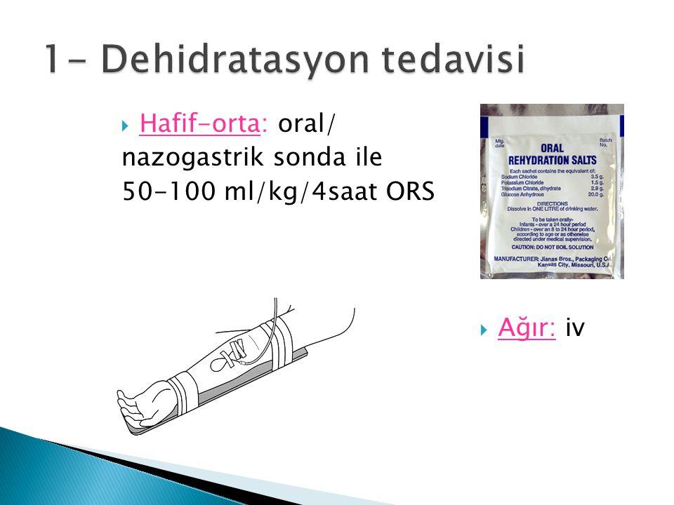 1- Dehidratasyon tedavisi