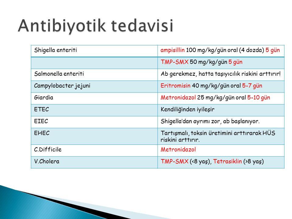 Antibiyotik tedavisi Shigella enteriti
