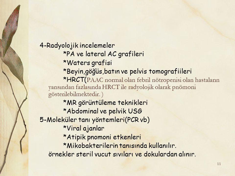 4-Radyolojik incelemeler