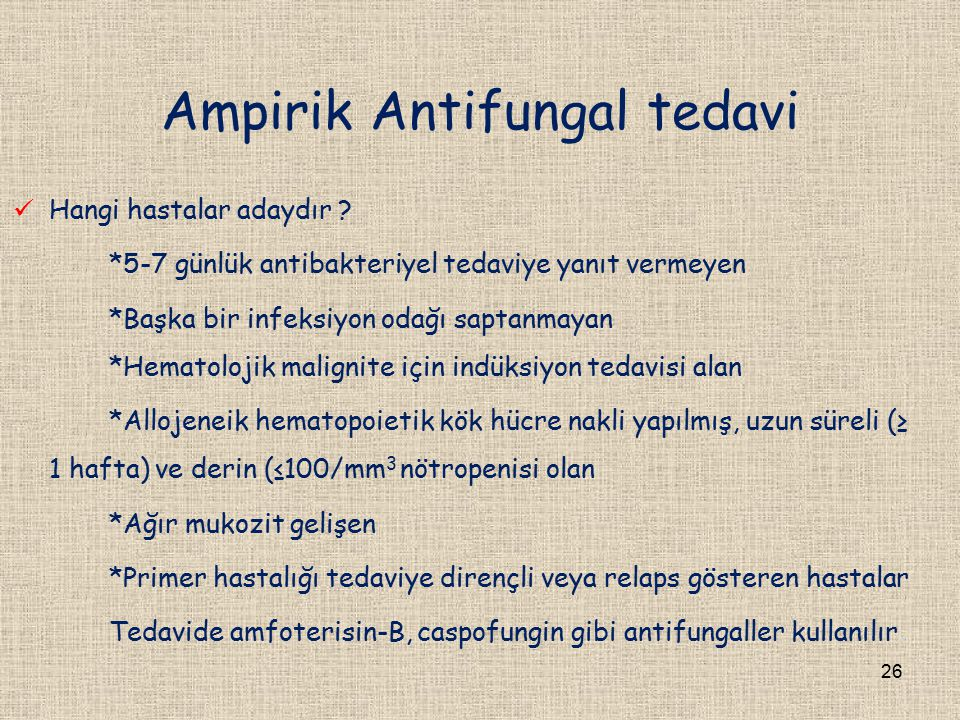 Ampirik Antifungal tedavi