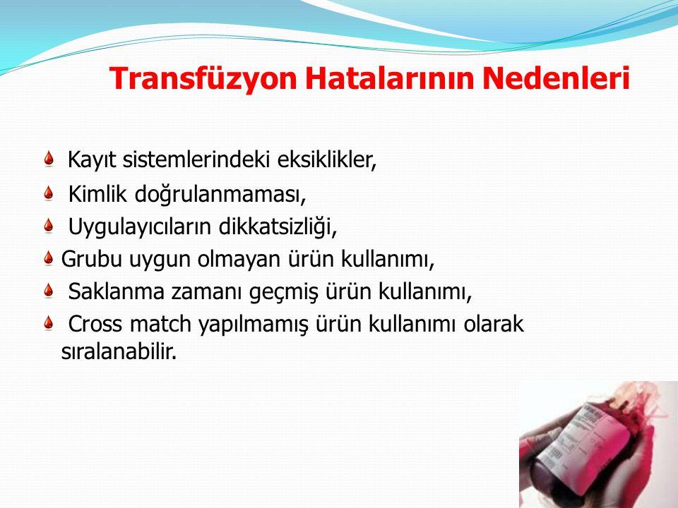 Transfüzyon Hatalarının Nedenleri