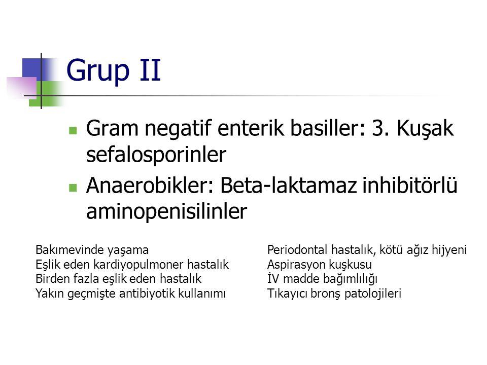 Grup II Gram negatif enterik basiller: 3. Kuşak sefalosporinler