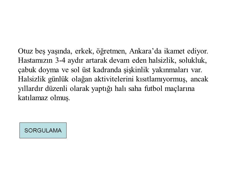 Otuz beş yaşında, erkek, öğretmen, Ankara'da ikamet ediyor
