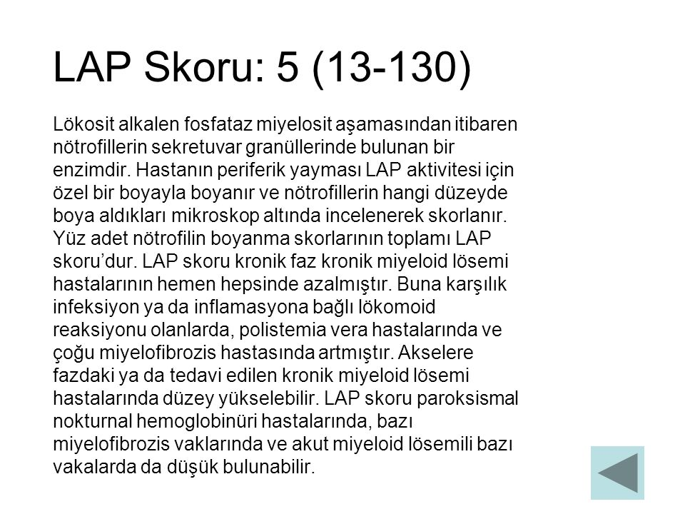 LAP Skoru: 5 (13-130)
