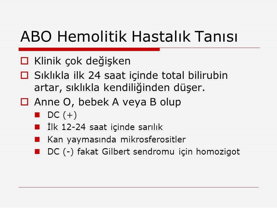 ABO Hemolitik Hastalık Tanısı