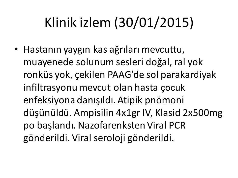 Klinik izlem (30/01/2015)