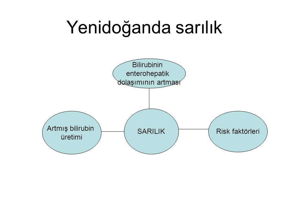 Yenidoğanda sarılık Bilirubinin enterohepatik dolaşımının artması