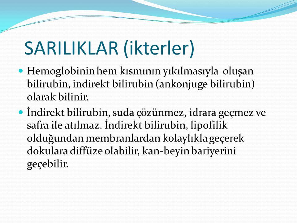 SARILIKLAR (ikterler)