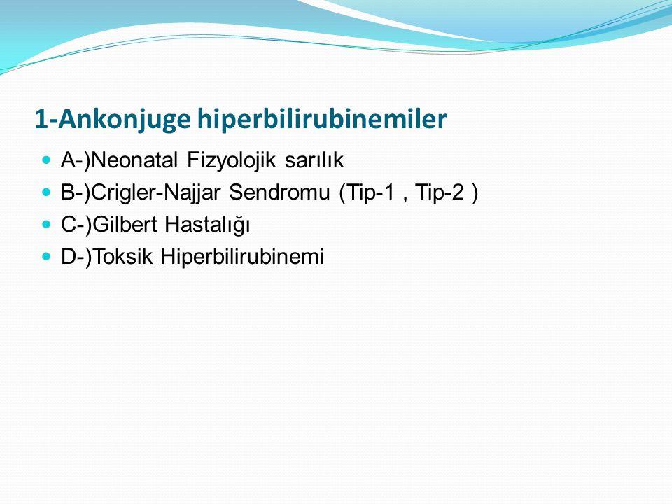 1-Ankonjuge hiperbilirubinemiler