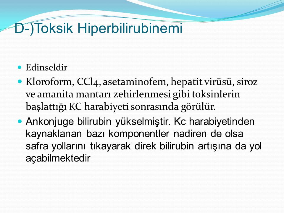 D-)Toksik Hiperbilirubinemi