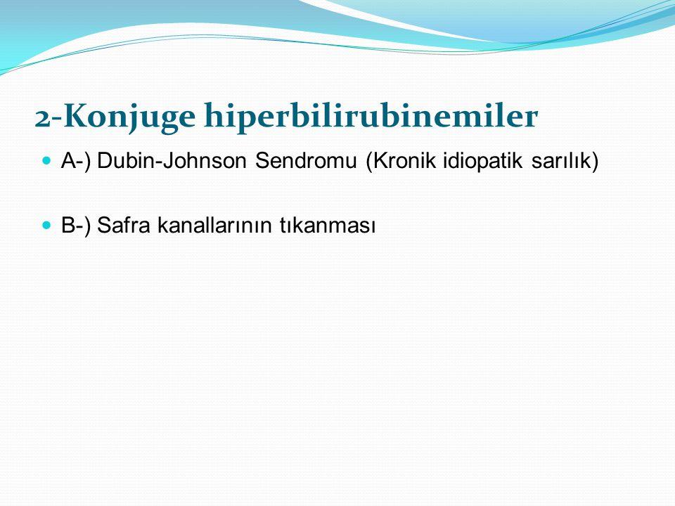 2-Konjuge hiperbilirubinemiler
