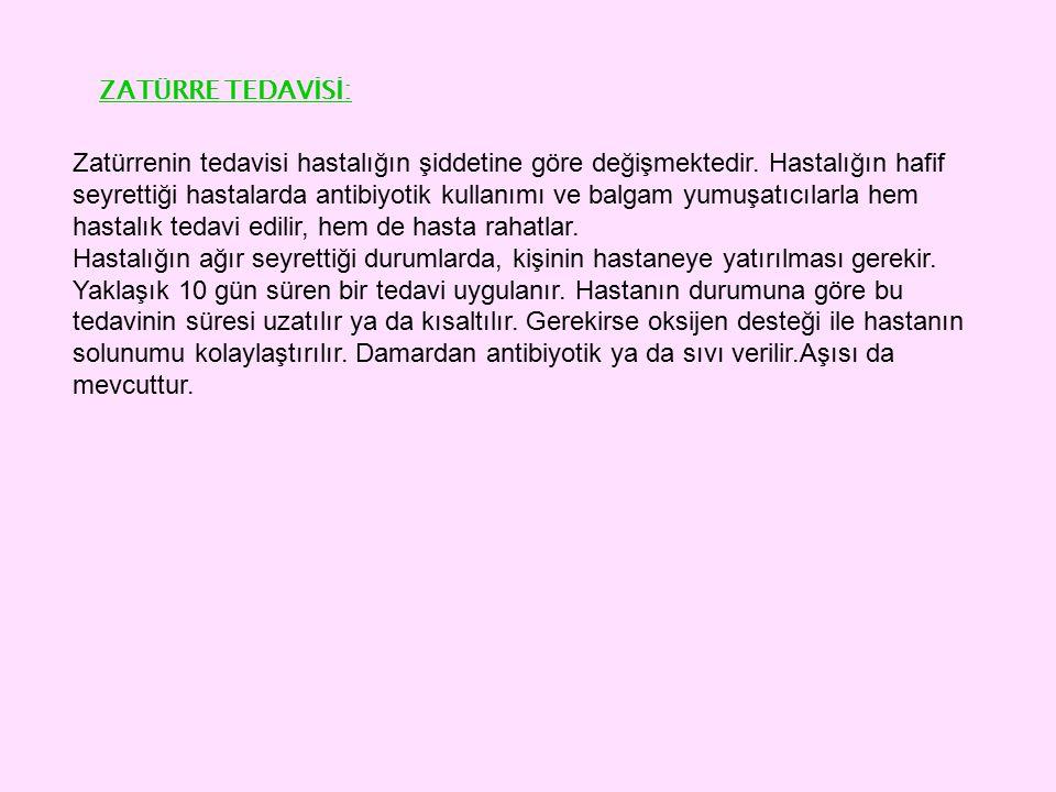ZATÜRRE TEDAVİSİ: