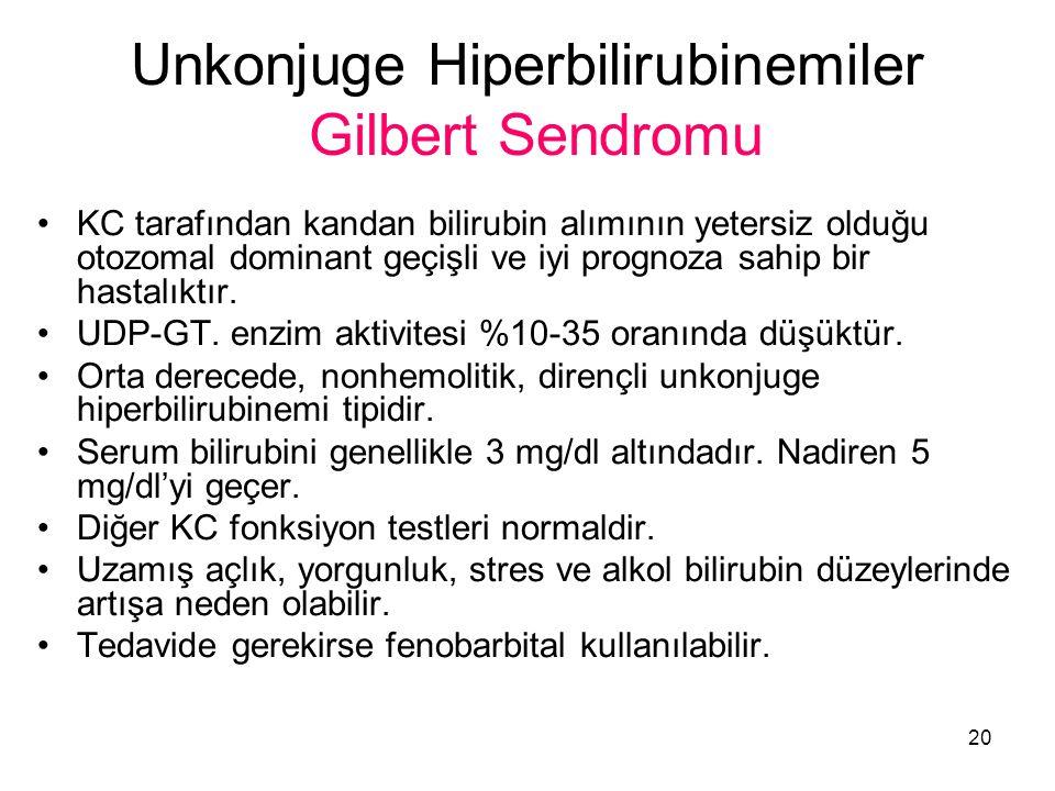 Unkonjuge Hiperbilirubinemiler Gilbert Sendromu