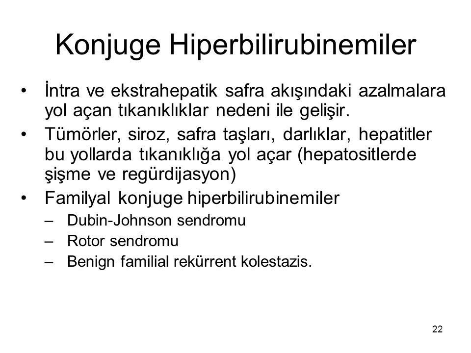 Konjuge Hiperbilirubinemiler