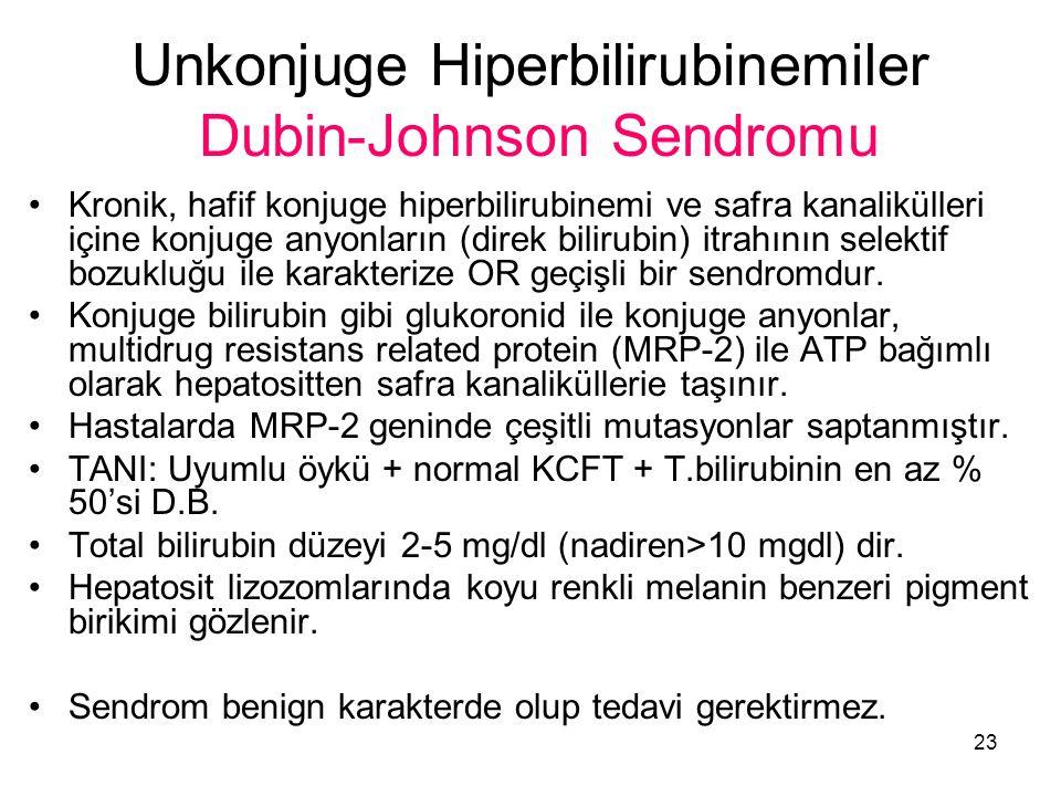 Unkonjuge Hiperbilirubinemiler Dubin-Johnson Sendromu
