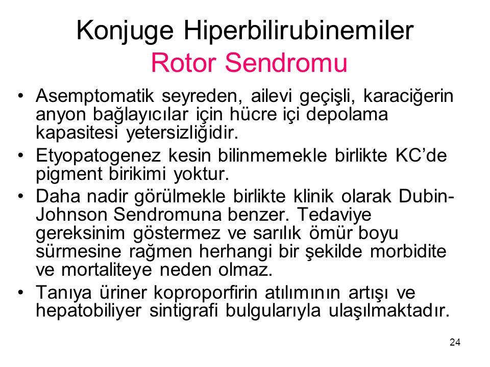 Konjuge Hiperbilirubinemiler Rotor Sendromu