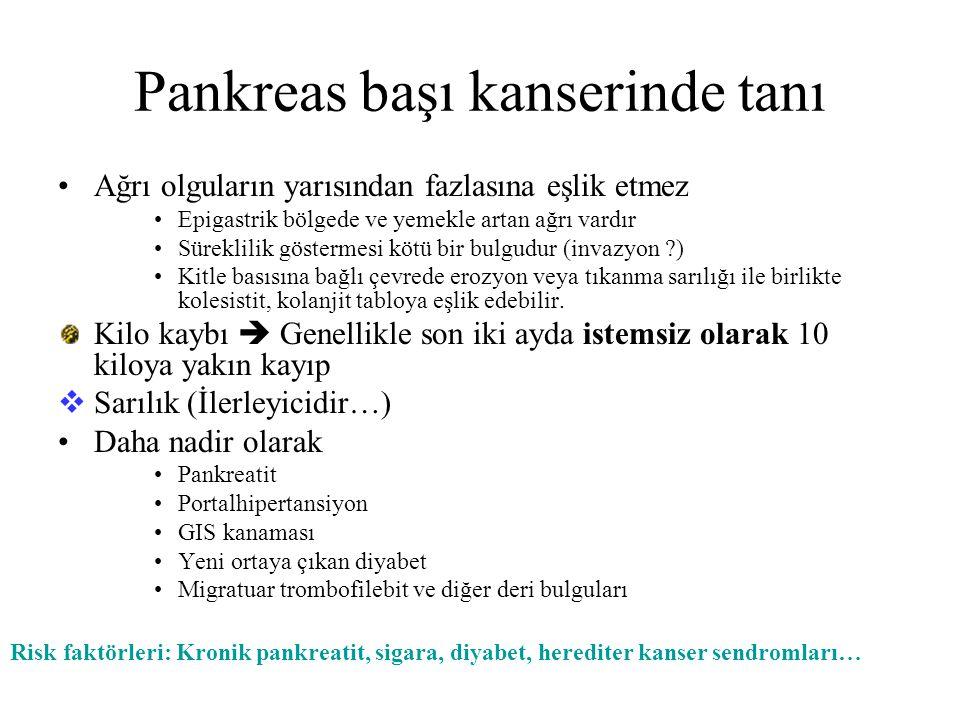 Pankreas başı kanserinde tanı