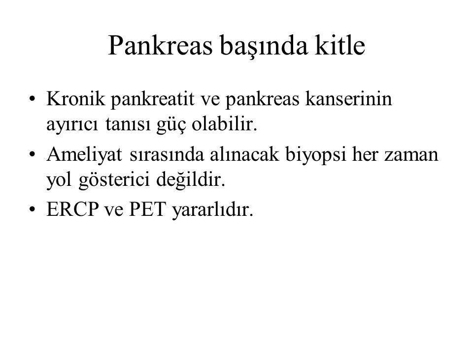 Pankreas başında kitle