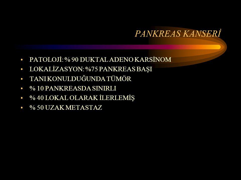 PANKREAS KANSERİ PATOLOJİ: % 90 DUKTAL ADENO KARSİNOM
