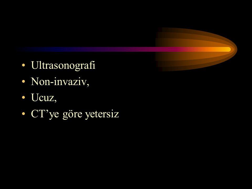 Ultrasonografi Non-invaziv, Ucuz, CT'ye göre yetersiz