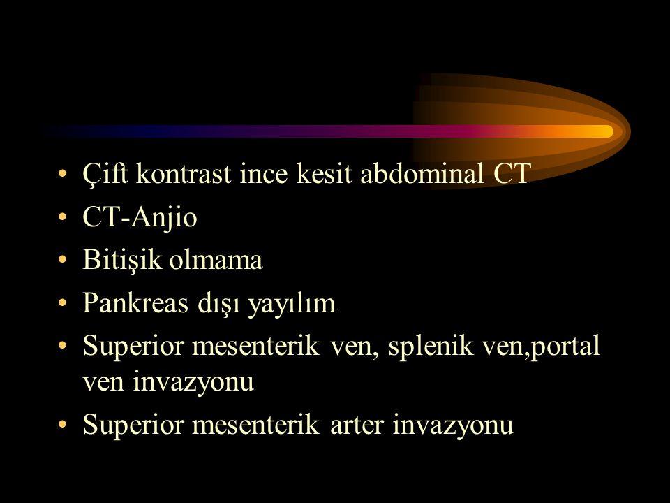Çift kontrast ince kesit abdominal CT
