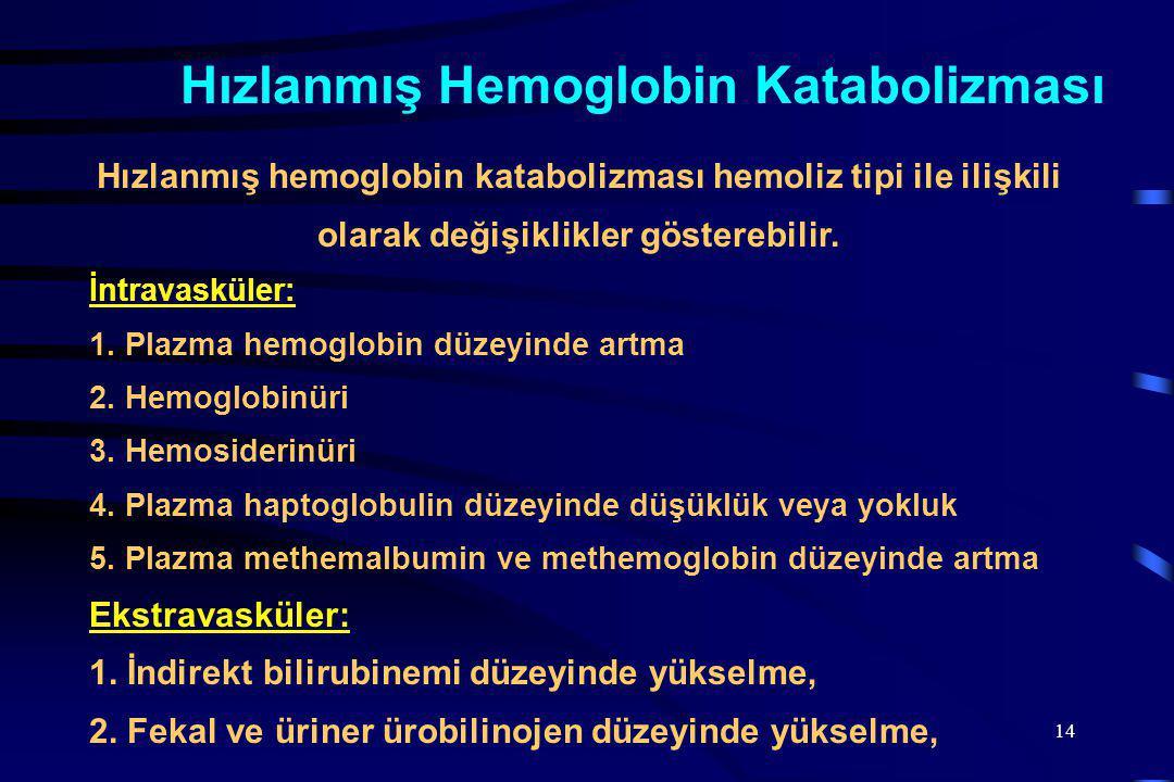 Hızlanmış Hemoglobin Katabolizması