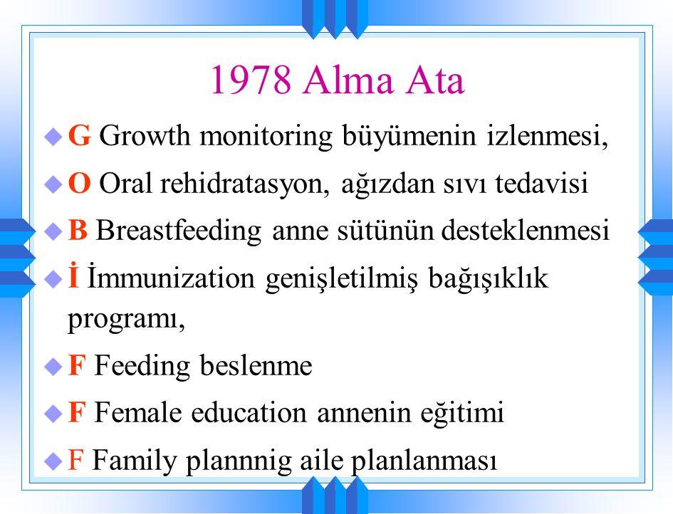 1978 Alma Ata G Growth monitoring büyümenin izlenmesi,