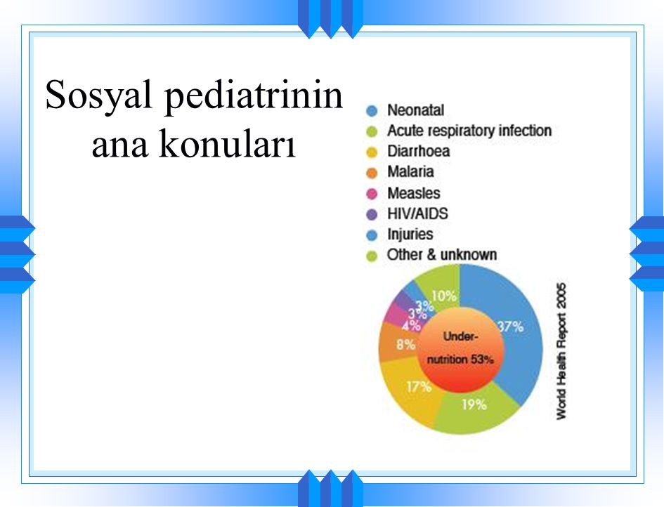 Sosyal pediatrinin ana konuları