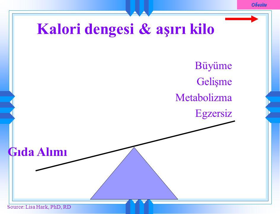 Kalori dengesi & aşırı kilo
