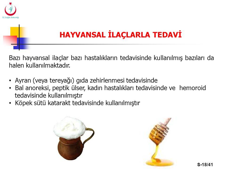 HAYVANSAL İLAÇLARLA TEDAVİ