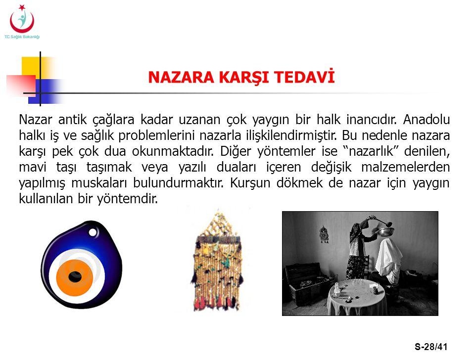 NAZARA KARŞI TEDAVİ