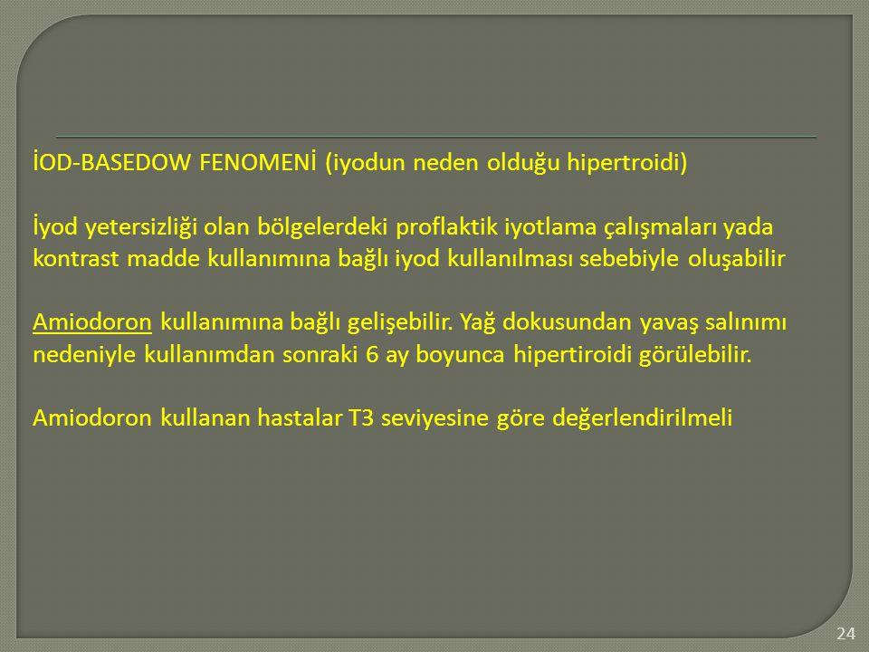 İOD-BASEDOW FENOMENİ (iyodun neden olduğu hipertroidi)